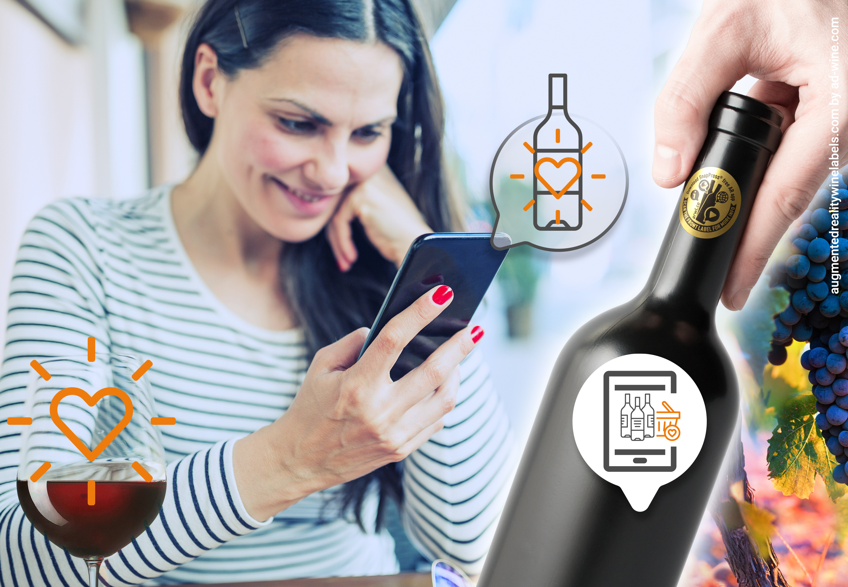 Connected wine label generates engagement
